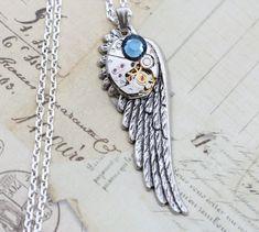 Steampunk Necklace Wing Steam Punk Jewelry by inspiredbyelizabeth, $39.00