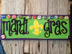 Mardi Gras New Orleans Hand Painted Wood Signs by SignsByZet, $35.00