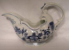 BLUE DANUBE china BLUE DANUBE pattern Gravy Boat I HAVE THE BLUE DANUBE BOAT IN ANOTHER SHAPE...NEED THIS TOO!