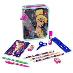 Disney Tinker Bell Zip-Up Stationery Kit | Disney StoreTinker Bell Zip-Up Stationery Kit - Their imagination will take flight with this Tinker Bell Zip-Up Stationery Kit. Featuring more than 30 pieces, including colored markers and pencils, there's everything your artistic fairy needs when they fly back to school.