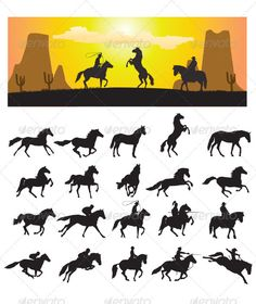 Horse Silhouette — Vector EPS #stallion #speed • Available here → https://graphicriver.net/item/horse-silhouette/3273056?ref=pxcr