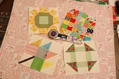 "6"" blocks for the Bee in my Bonnet - Quilty Barn Along"