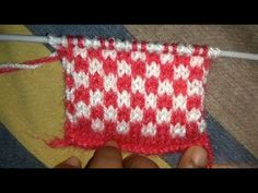 Easy Two Color Knitting Pattern No.19(Check Design)| Hindi - YouTube