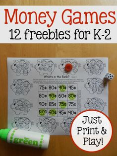 These counting coins activities are so versatile! For kids just learning to recognize coins all the way up to kids counting quarters, nickels, dimes, and pennies. Money Activities with Kids Elementary Math, Kindergarten Math, Teaching Math, Preschool, Teaching Time, Teaching Tools, Teaching Ideas, Money Activities, Math Resources