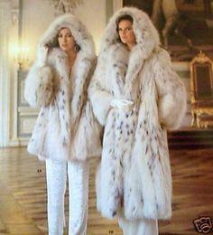 Hooded Lynx Fur Coats