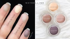 Maybelline Color Tattoo Mattes - Swatches Drugstore Eyeshadow, Cream Eyeshadow, Makeup Dupes, Beauty Makeup, Skin Color Tattoos, Tattoo Skin, Mac Paint Pots, Rose Vintage, Make Up