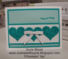 Stampin' Up!- 'Groovy Love' and coordinating Sweetheart Punch!