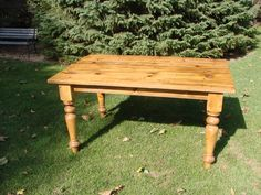 Table legs by Century Porch Post really make this farmhouse table stand out.