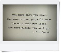 Dr. Seuss quote!