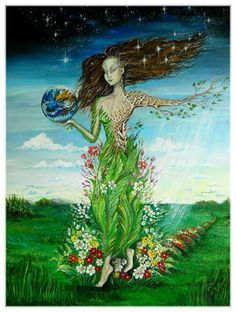 The Soul of the Earth  30x 40 x 0.75 : The soul of mother Earth brings Harmony... She wants us to live together as one with Love and Peace.