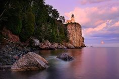 Split Rock Moonrise by Steve Perry on 500px