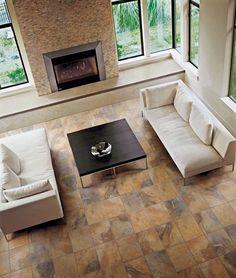"Vesale Stone Tile by Marazzi   13""x13"" Floor Tile floor featur, featur jade, floors, colors, color ochr, ceram tile, floor tile, brick mosaic, jade ochr"