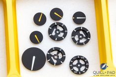 A few of the indication subdials for the Ressence Type 3