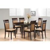 Found it at Wayfair - Crawford 7 Piece Oval Dining Table with Cushion Back Side Chair in Rich Cappuccino