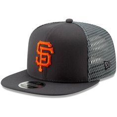 0888bffb15f Men s San Francisco Giants New Era Graphite Mesh Fresh 9FIFTY Adjustable  Snapback Hat