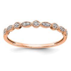 14k Rose Gold Diamond Fancy Band / Style: RM5625-006-RA