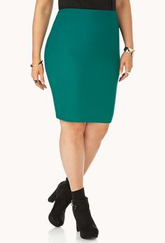Posh Ribbed Pencil Skirt | FOREVER21 PLUS - 2000066483