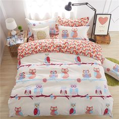 Cheap textile fur, Buy Quality sheets for double bed directly from ... : owl double bed quilt cover - Adamdwight.com