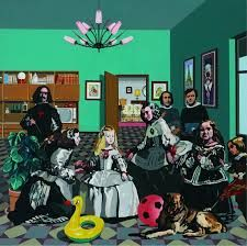 Look familiar? A pop art style Valezquez painting by Equipo Crónica (Las Meninas), whose art features in The Exhibition: The Infanta Margarita, Peter Blake, Robert Rauschenberg, Roy Lichtenstein, Pop Art, Arte Pop, Cultura Pop, Andy Warhol, Picasso