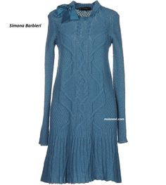 Вязаное платье спицами от Simona Barbieri http://mslanavi.com/2016/01/vyazanoe-plate-spicami-dlya-zhenshhin/