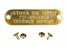 Custom Brass Engraved Stamped Name Tag Dog Pet ID Tags for Collar #OutdoorDogSupply