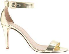 $198, J.Crew Mirror Metallic High Heel Sandals. Sold by J.Crew. Click for more info: https://lookastic.com/women/shop_items/63454/redirect