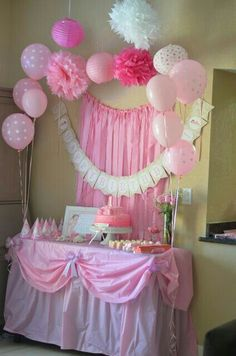 Bbyshower bakery table and back drop