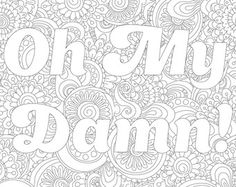 Swear Coloring Page With Poem Flower Ornaments By PaperBro