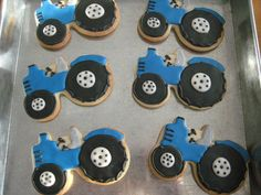 new holland tractor by sugarlily cookie, via Flickr