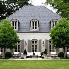 French country exterior, french country house, mansions homes, veranda, c. French Country Exterior, Modern French Country, French Country Cottage, French Country Decorating, Country Style, Country House Design, Country Houses, French Countryside, Country Farmhouse