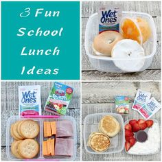 3 Fun School Lunch Ideas - My kids are sick of sandwiches so here are non-sandwich school lunch ideas. #WishIHadAWetOnes [ad]