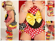 Girls Sunsuit // Little Girls Romper // Mickey by AdalynsBoutique, $29.99  http://www.adalynsboutique.com