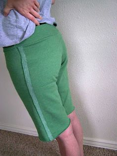 Made by Me. Shared with you.: Tutorial: Lounge Shorts From a Sweatshirt