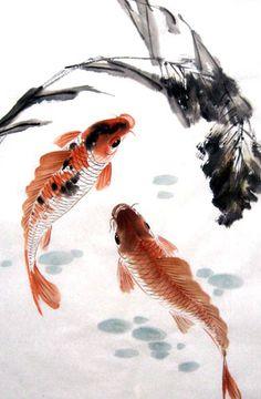 Koi Fish,69cm x 46cm(27〃 x 18〃),2805012-z