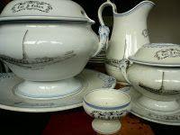 Egersund Fayance Sugar Bowl, Bowl Set