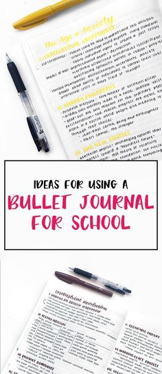 Bullet Journal for School – Lots of ideas for helping you organize your studies! (image credit- @studyquill)