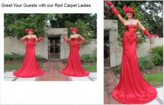 Red Carpet Ladies on Stilts