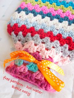 Free Crochet Pattern for a hot water bottle on my blog now