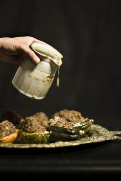 Vegan : Soy Mushroom Stuffed Acorn Squash with Mushroom Gravy