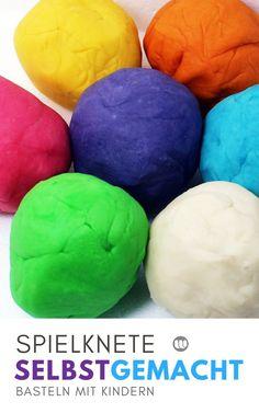 Knete selber machen für Kinder