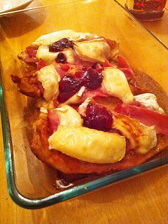 Schnitzel with Camembert is a great German dish for dinner and is easy to make. I am not sure where the recipe comes from but this combination is great.