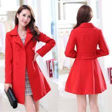 67cd70141ceca Resultado de imagen para abrigo rojo cachemir mujer