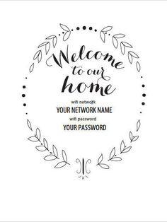 Wifi Pword Sign Printable Internet Guest Room Rooms