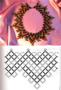 A pattern for beautiful necklace Honey 11/0-4 mm