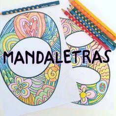 Mandaletras mandalas súper originales con las letras del abecedario -Orientacion Andujar Spanish Alphabet, Alphabet Book, Printable Coloring Pages, Coloring Pages For Kids, Sticky Vinyl, English Posters, Grande Section, Doodle Lettering, Stick Figures