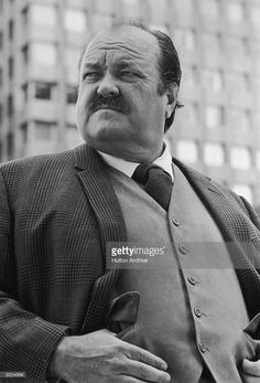 Low-angle image of American actor William Conrad standing outdoors. Angles Images, Detective Series, Fat Man, Low Angle, Vintage Tv, Classic Tv, Great Movies, Still Image, American Actors