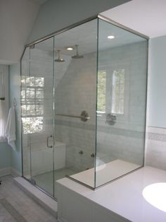 Semi Frameless Shower Enclosures frameless shower doors vaulted ceiling - google search | ideas for