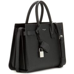 Saint Laurent Sac De Jour Baby Leather Tote (28.760.340 IDR) ❤ liked on Polyvore featuring bags, handbags, tote bags, ysl, man bag, leather purses, leather tote handbags, leather tote bags and tote purses