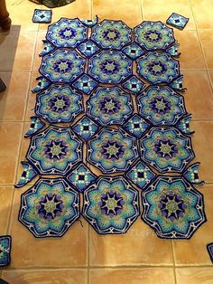 Ravelry: Project Gallery for Persian Tile Blanket pattern by Jane Crowfoot £ 4.95