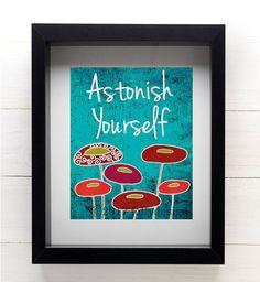 Artist Shanni Welsh's Red Poppy art print. Poppy home décor. Poppy poster. Inspirational typography art print. Botanical art print. Red poppy wall décor.